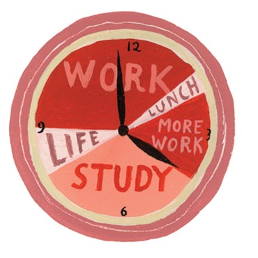 balance between study and work Carving out time for exercise in your day could help you feel more in control of your work-life balance, according to a new study between one's work.